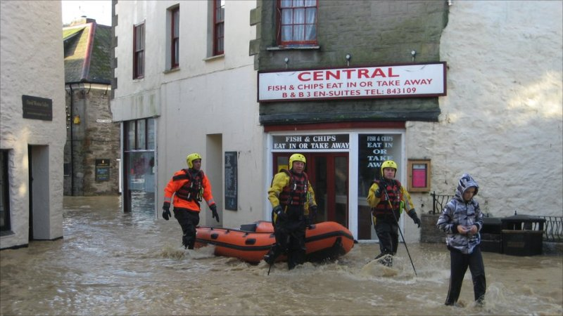 Mevagissey flooding: image by Karen Hatt